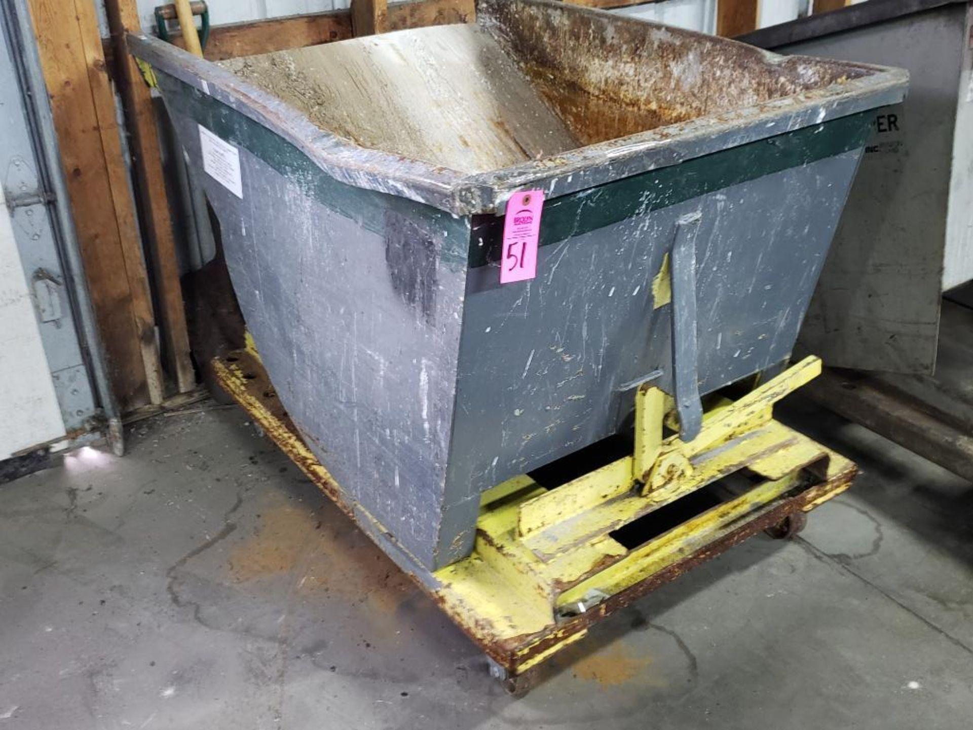 Lot 51 - Self dumping hopper on casters.