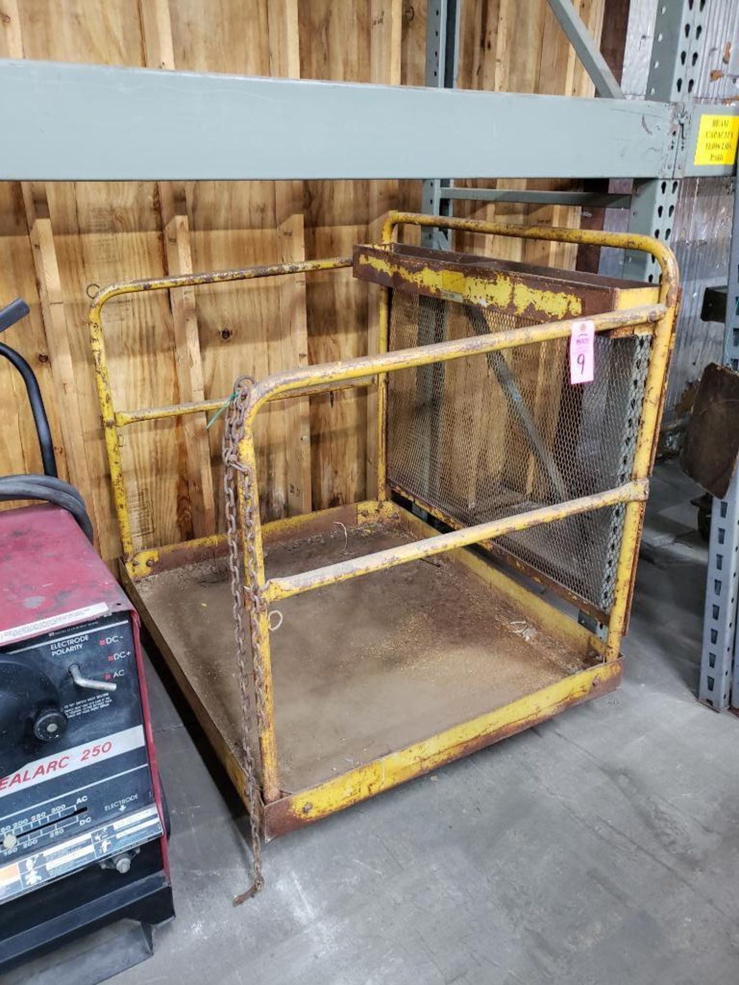 Lot 9 - Forklift safety man basket.