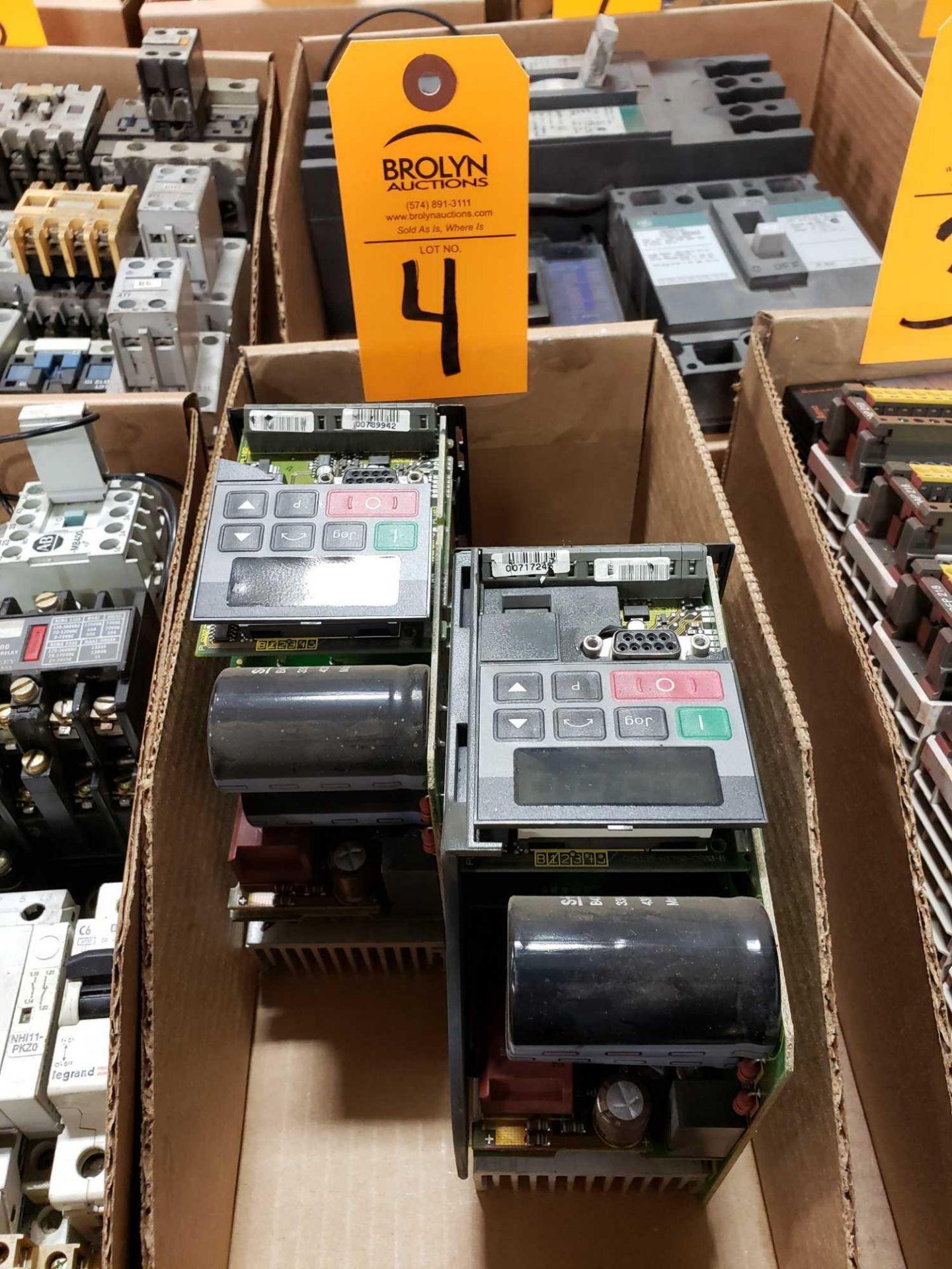 Lot 4 - Qty 2 - Siemens drives. Cases broken/missing.