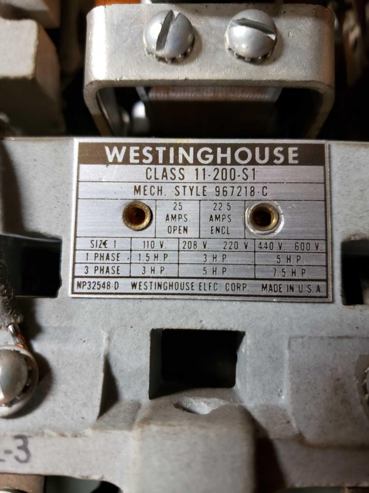 Lot 9 - Westinghouse starter as pictured.