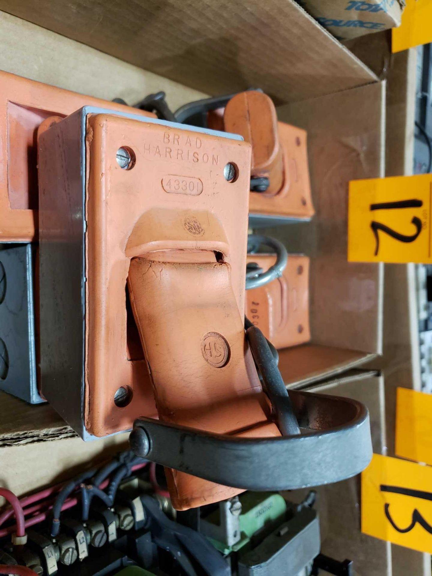 Lot 12 - Qty 5 - Brad Harrison safety plug outlet model 43301.