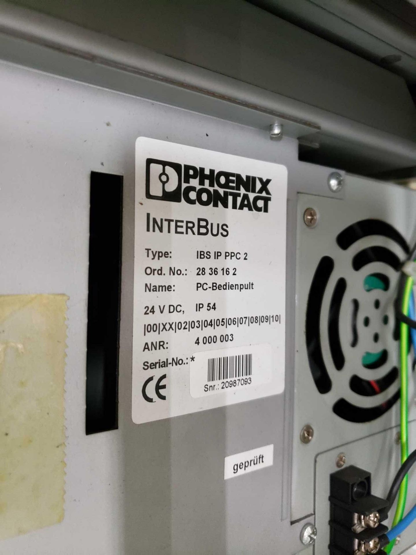 Lot 20 - Phoenix Contact Interbus Operator inteface Type IBS-IP-PPC-2.