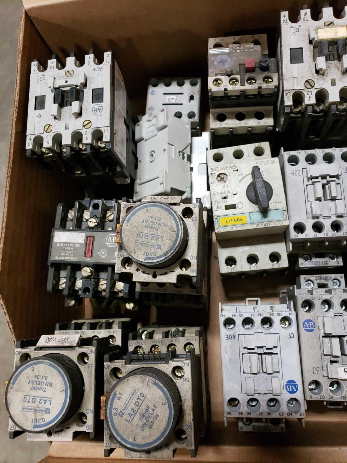 Lot 6 - Large Qty assorted contactors, starters, electrical as pictured.