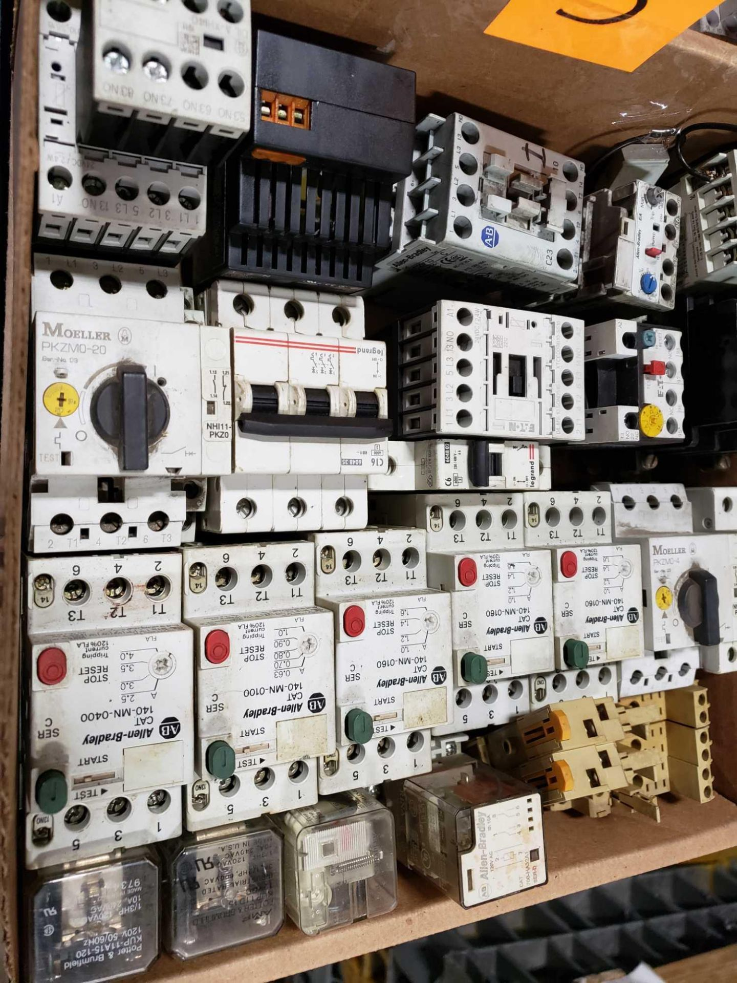 Lot 5 - Large Qty assorted contactors, starters, electrical as pictured.