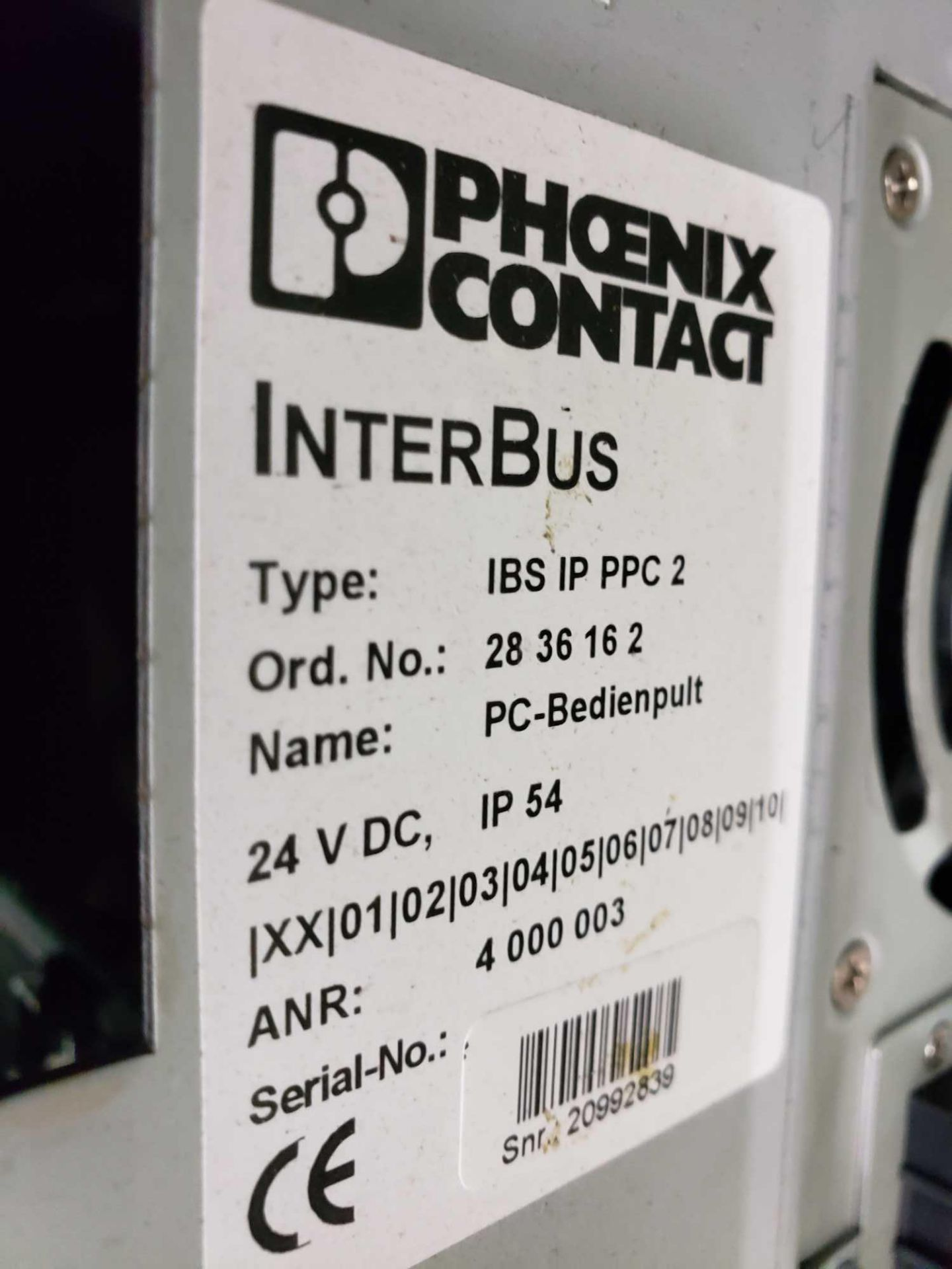 Lot 23 - Phoenix Contact Interbus Operator inteface Type IBS-IP-PPC-2.