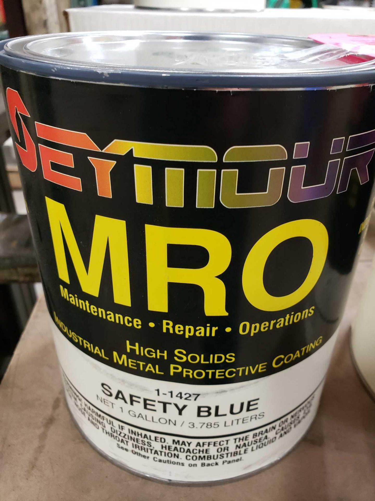 Lot 14 - Qty 2 - Seymour MRO paint Gloss Safety Blue model 1-1427. New as pictured.
