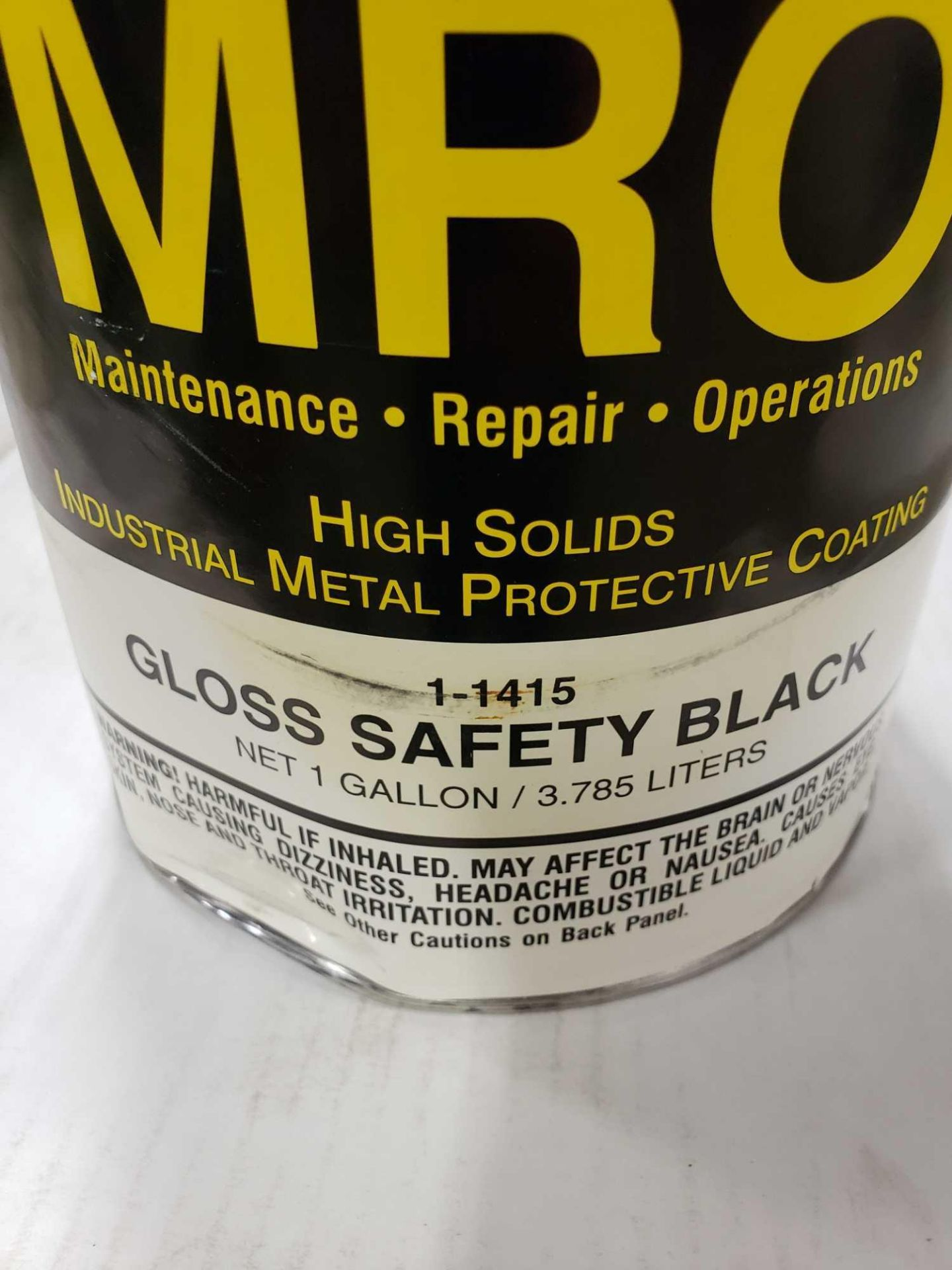 Lot 9 - Qty 4 - Seymour MRO paint Gloss Safety Black model 1-1415. New as pictured.