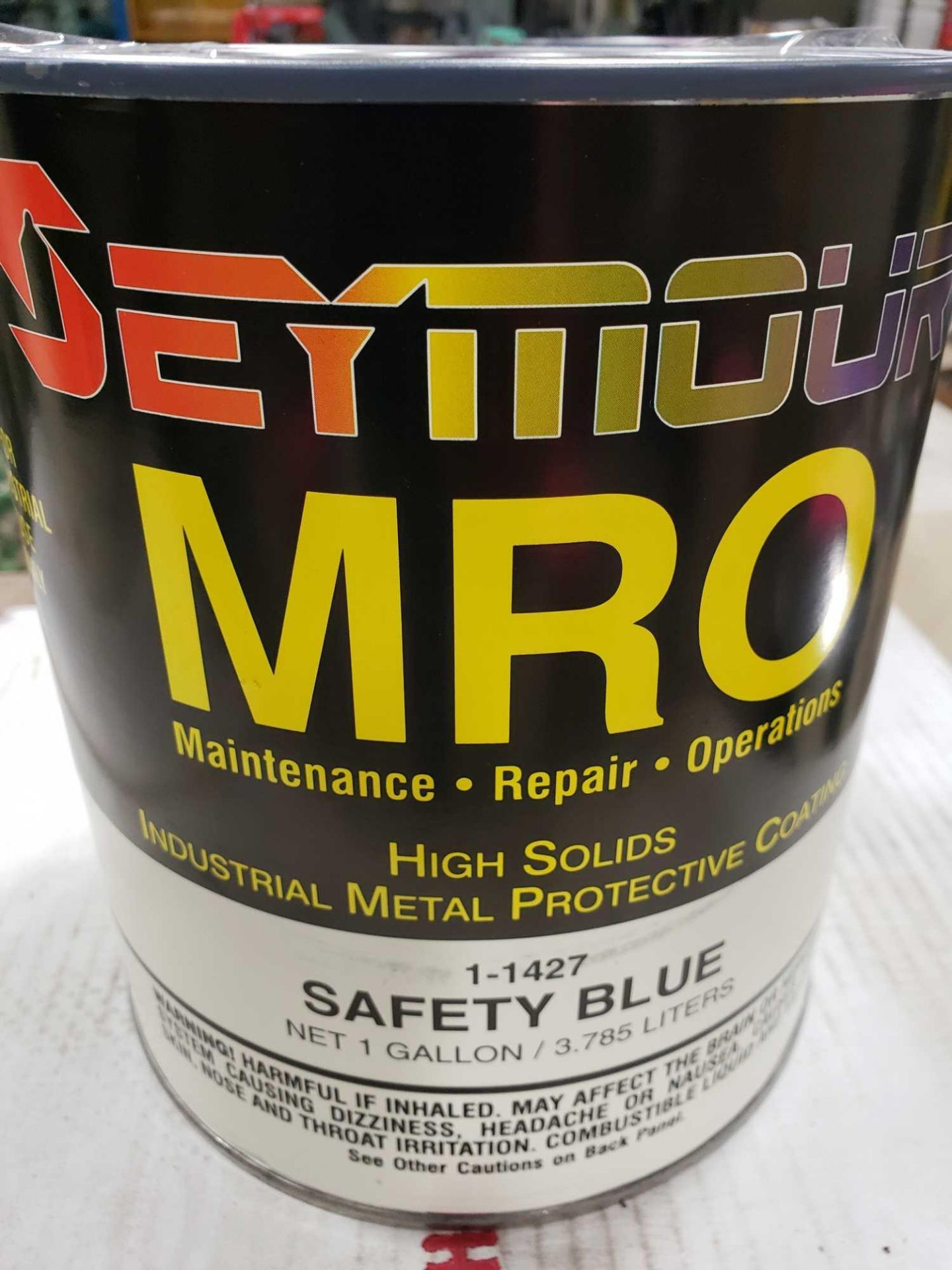 Lot 12 - Qty 4 - Seymour MRO paint Gloss Safety Blue model 1-1427. New as pictured.