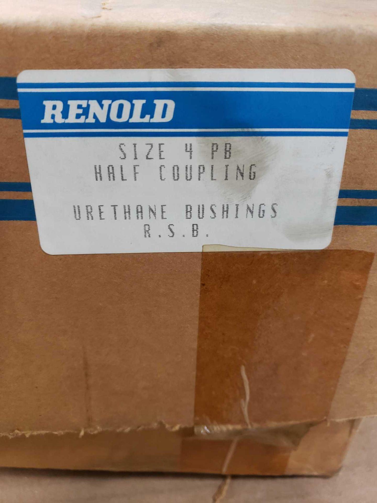 Lot 157 - Renold half coupling size 4 PB urethane bushing. New in box.
