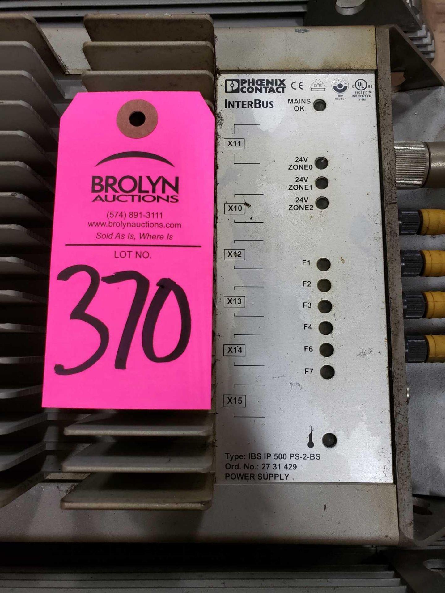 Lot 370 - Phoenix Contact Interbus Type IBS-IP-500-PS-2-BS power supply.