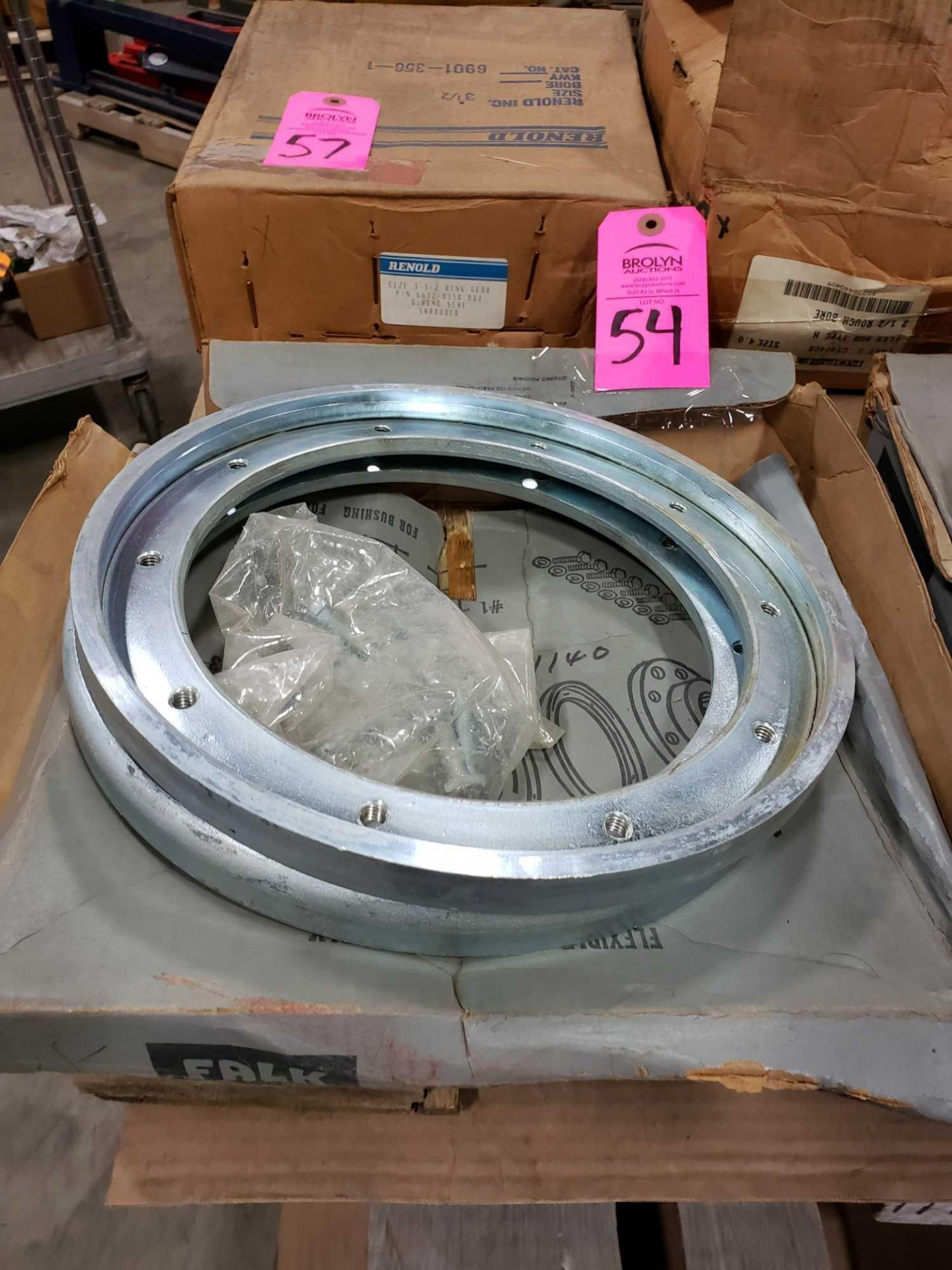 Lot 54 - Falk coupling model 90WA. Includes flanges and bolts. New.