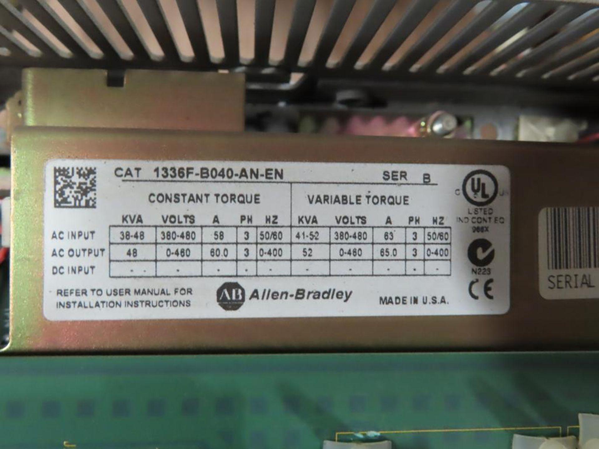 Lot 1 - Allen Bradley 1336 plus II sensorless vector drive catalog 1336F-B040-AN-EN.