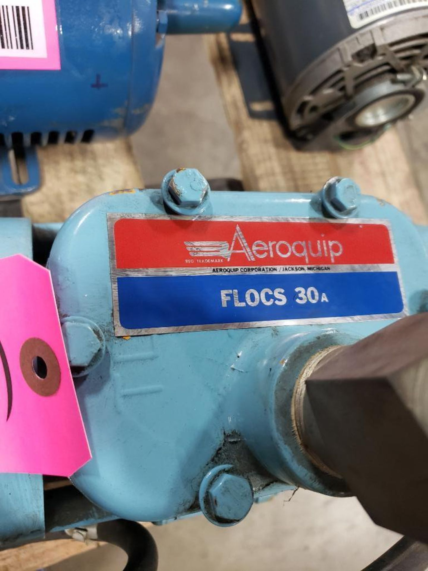 Lot 28 - Aeroquip pump model FF9315-01. Appears to be new with storage wear.