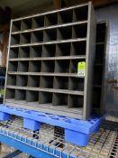 Qty 2 - pigeon hole shelves.