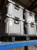 Qty 4 - Assorted large heavy duty totes.