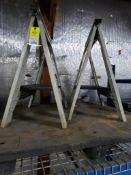 Qty 2 - Folding sawhorses.