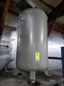 Vertical air compressor tank. Flat mount top.