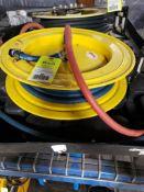 Pneumatic hose reel.