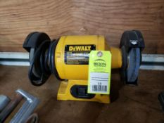 """Dewalt 6"""" bench grinder. Model DW756."""