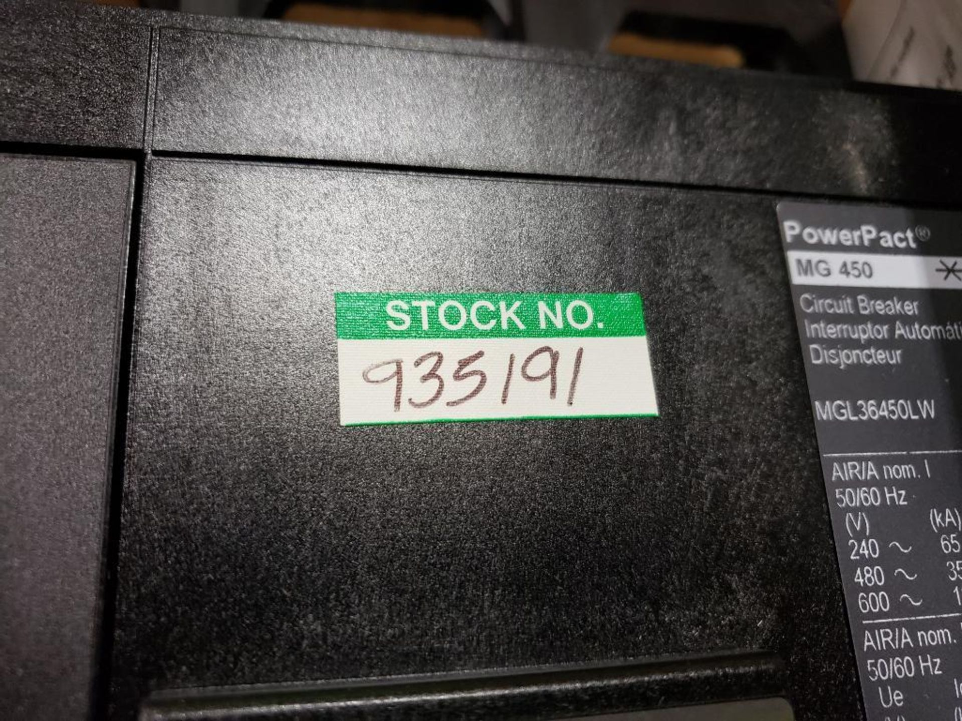Square D PowerPact breaker. 450 amp 3 phase. Model MGL36450LW. New in box. - Image 4 of 4