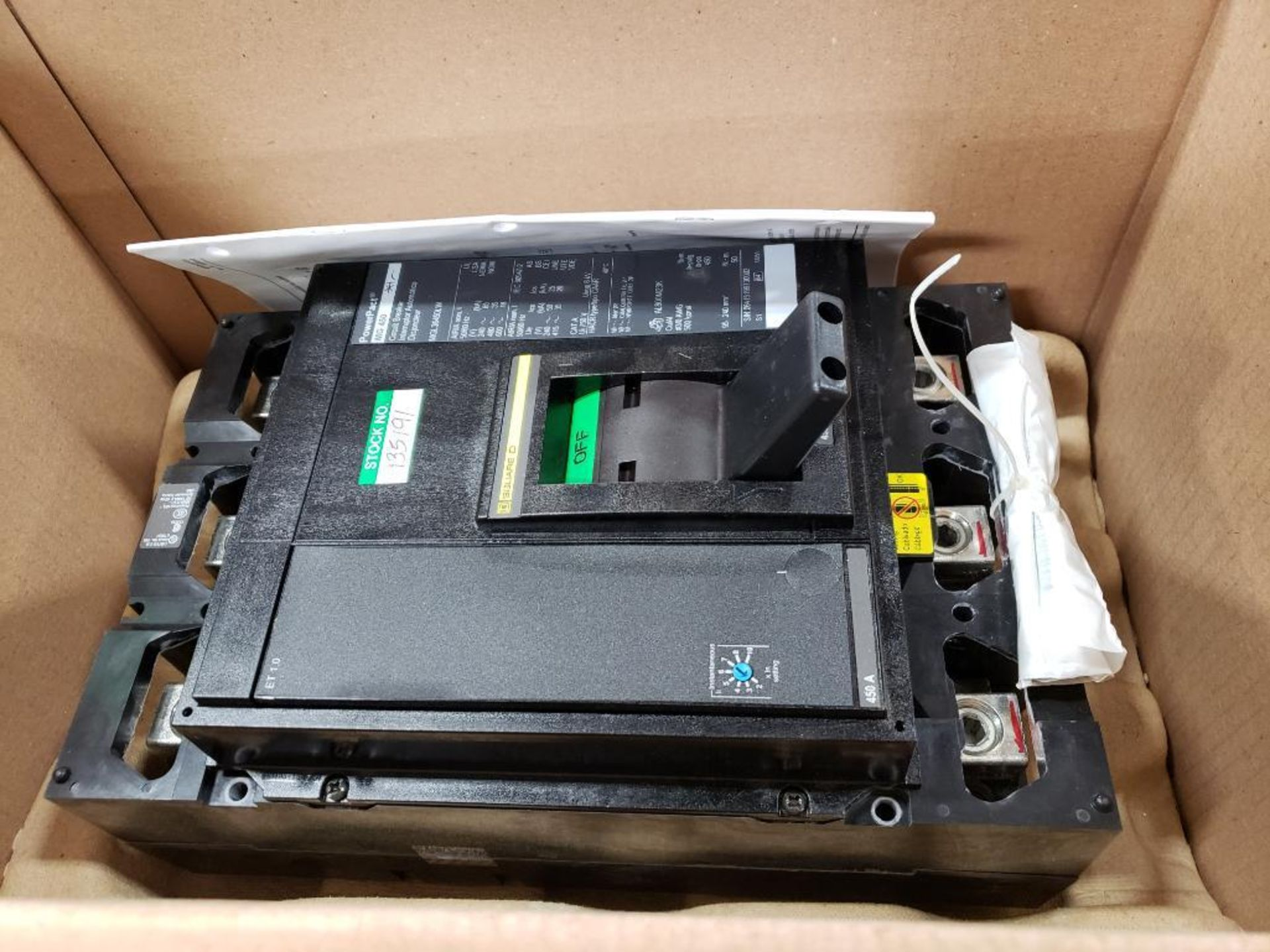 Square D PowerPact breaker. 450 amp 3 phase. Model MGL36450LW. New in box. - Image 2 of 4