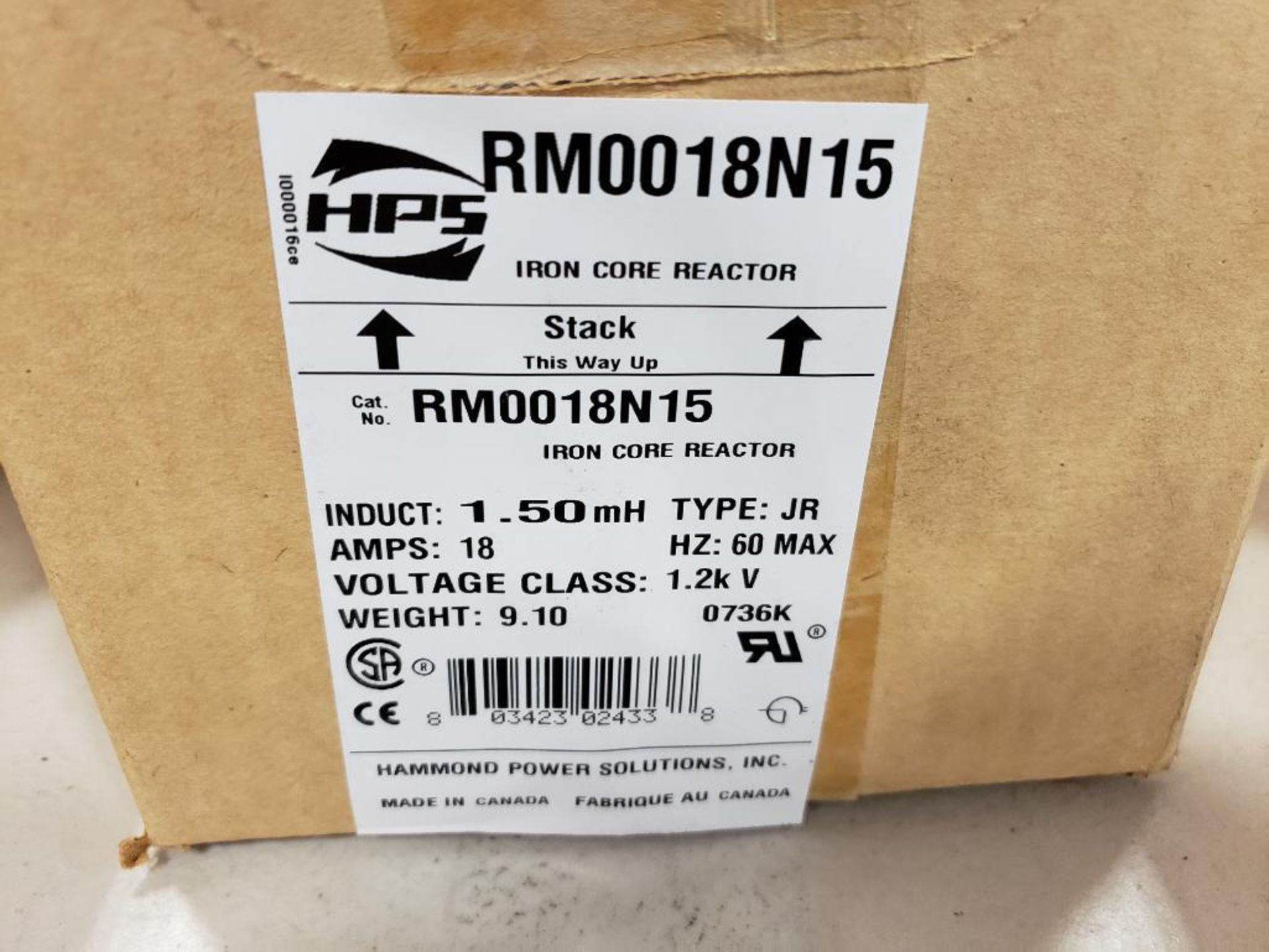 HPS iron core line reactor. Model RM0018N15. New in box. - Image 2 of 3