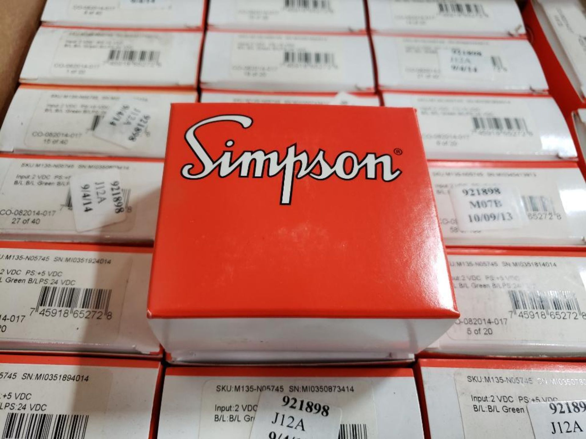 Qty 24 - Simpson gauge model CO-082014-014. New in box. - Image 2 of 3