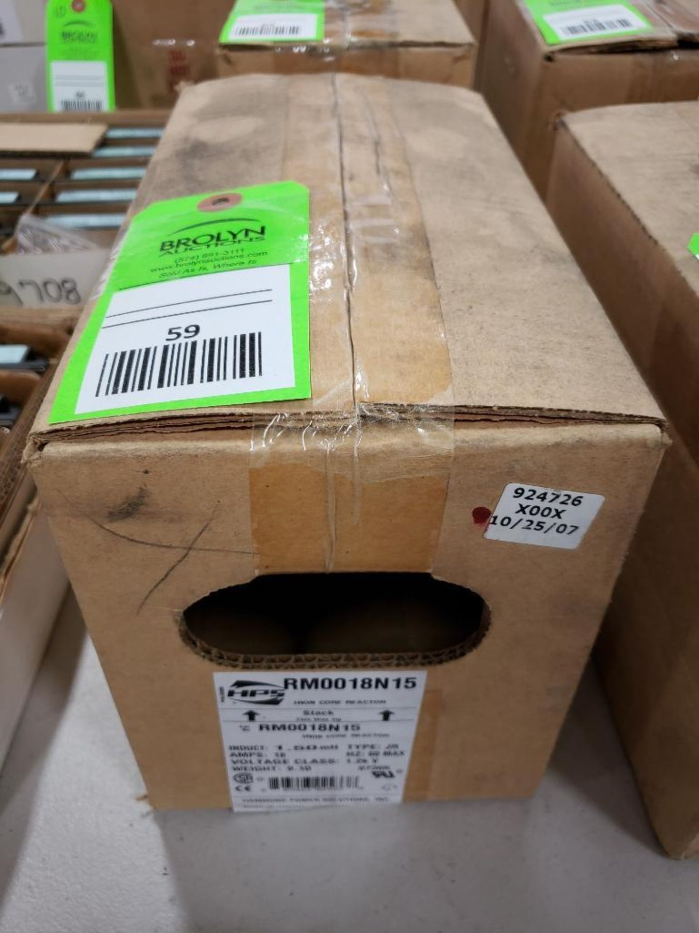 Hammond HPS iron core line reactor. Model RM0018N15. New in box.
