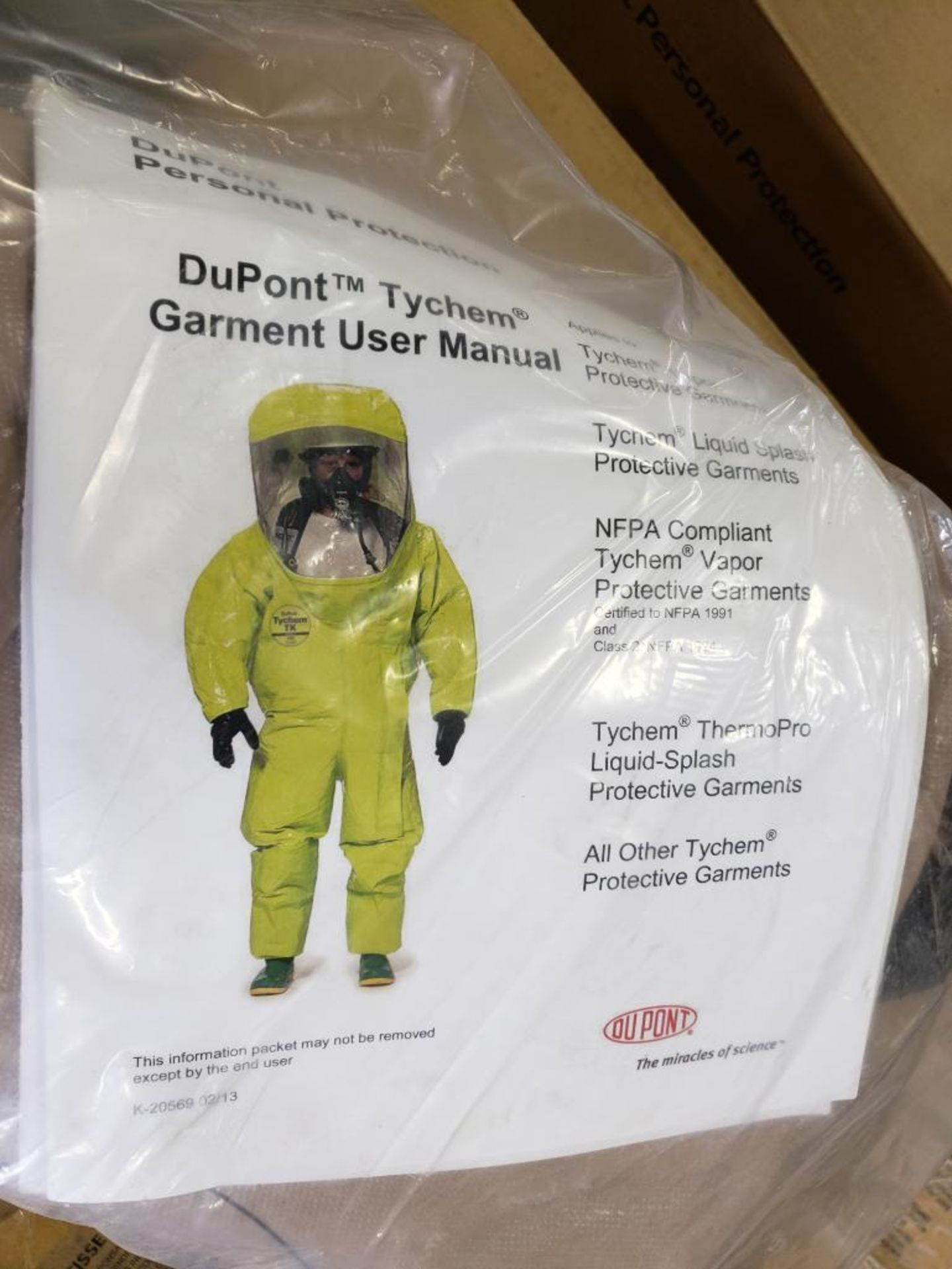 Qty 6 - Tychem coverall garment. Size Large. Part number C3198TTNMD0006WG. New in package. - Image 3 of 4