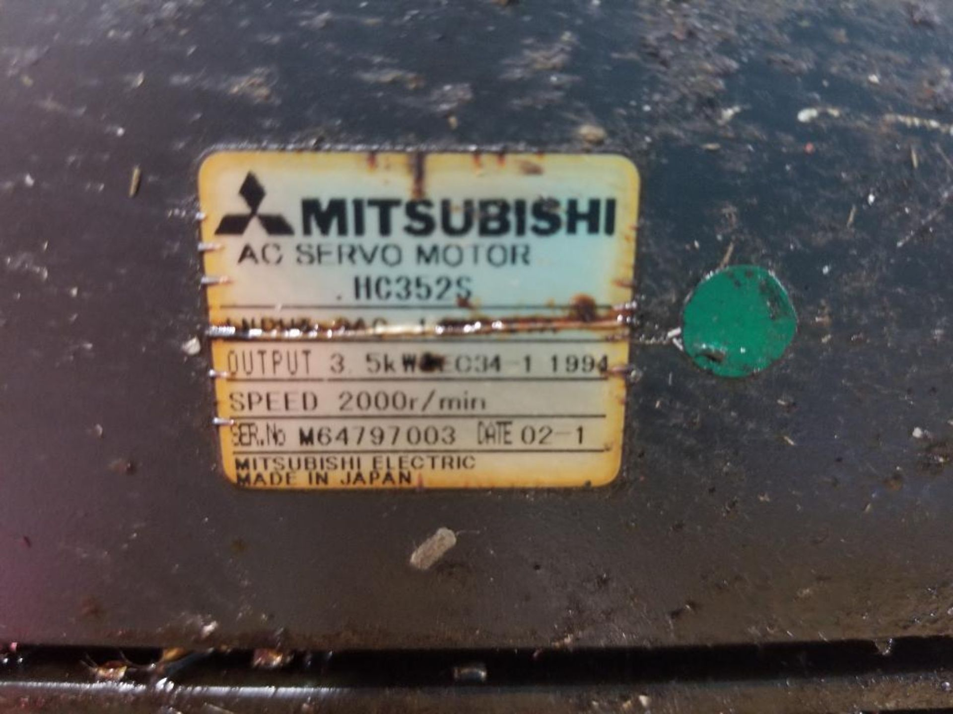 Mitsubishi HC-3525S servo motor. In box, but appears used. - Image 3 of 4