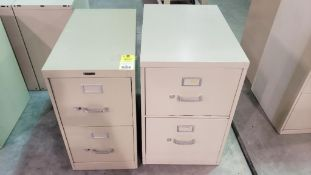Qty 2 - filing cabinets. One legal width and one standard width.