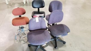 Qty 5 - Assorted chairs.