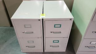 Qty 2 - two drawer filing cabinets.