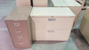 Qty 2 - filing cabinets. One vertical and one horizontal.