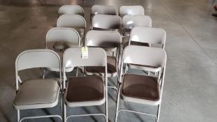 Qty 12 - folding chairs.