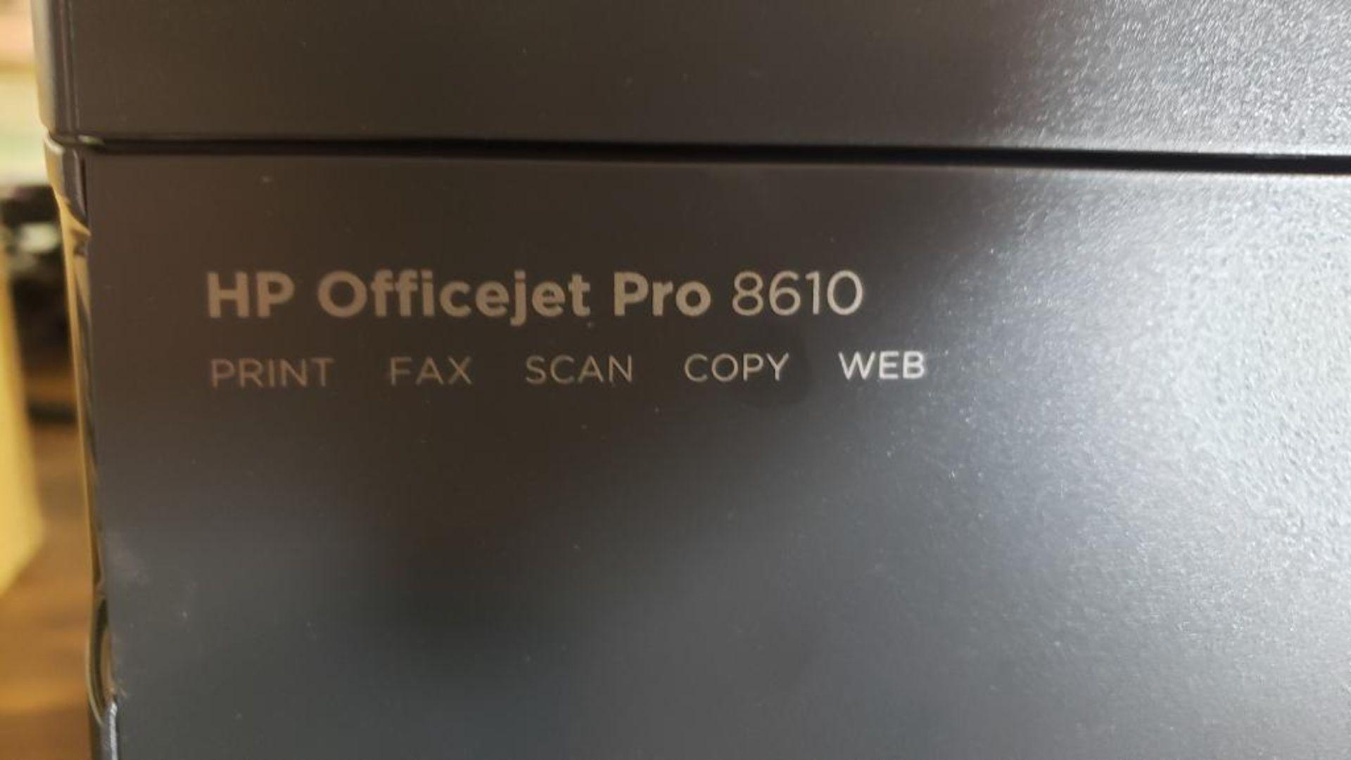 Lot 18 - Hp officejet pro model 8610 all in one printer scanner copier.