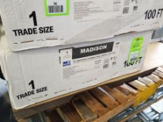 "100ft Madison 1"" UL Liquidtight flexible steel conduit. Part number 6204M30. New in box."