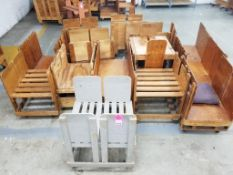 Qty 14 - wooden rolling carts.