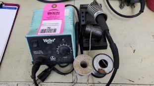 Weller soldering station.