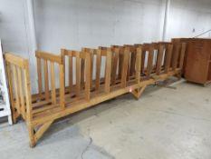 Large wooden rack.
