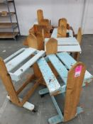 Qty 8 - Wooden rolling carts.