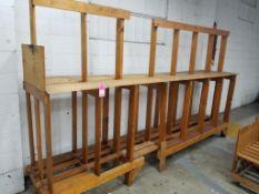 Wooden racking.