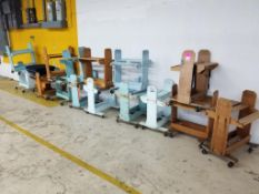 Qty 16 - Assorted wooden rolling racks.
