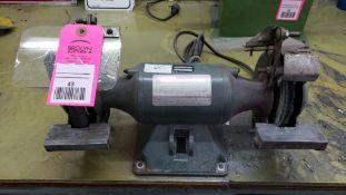 Dayton double end bench grinder. Model 4Z123D. 1/3hp 115v single phase.