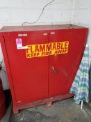Eagle 40 gallan flammable storage cabinet. Model PI-32. 44x44x18.