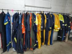 Large assortement of sample safety apparel.