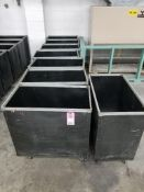 Qty 8 - Rolling dunnage carts.