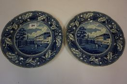 Pair of Derreville Plates by John Geddes, (2)