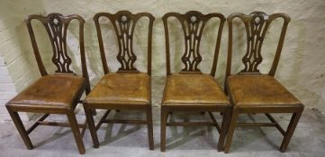 Four Matching Georgian Style Mahogany Dining Chairs, 95cm high, (4)