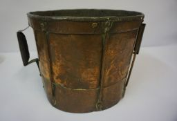Arts & Crafts Copper Pail / Bucket, 25cm high, 30cm diameter